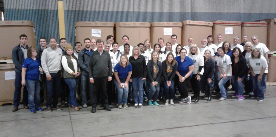Volunteering at Gleaners with Indiana Biosciences Research Institute