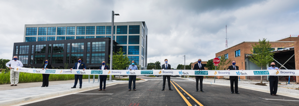 16 Tech, Browning-Davis, City of Indianapolis Celebrate First New Building, Road in 16 Tech Innovation District